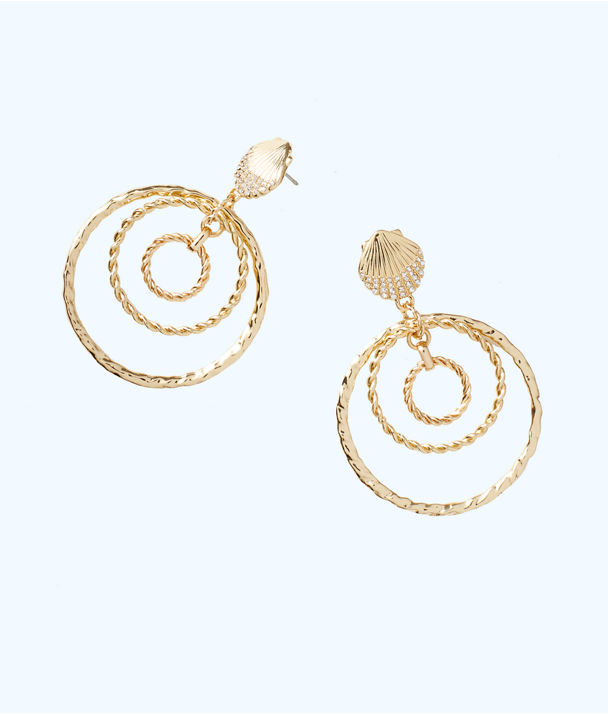 Celestial Seas Earring, Gold Metallic, large
