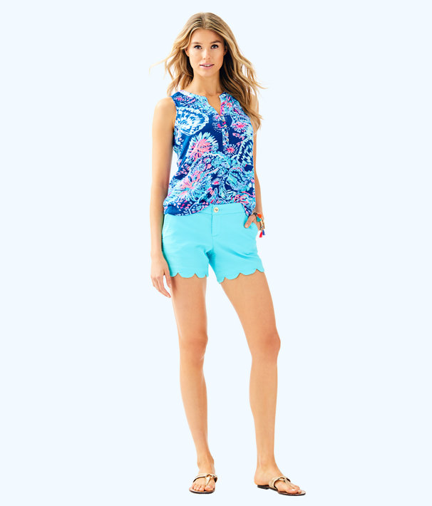 "5"" Buttercup Stretch Short, Seasalt Blue, large"
