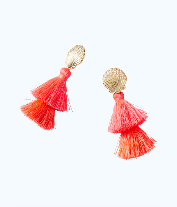 Shell Yeah Earrings, Cosmic Coral, large