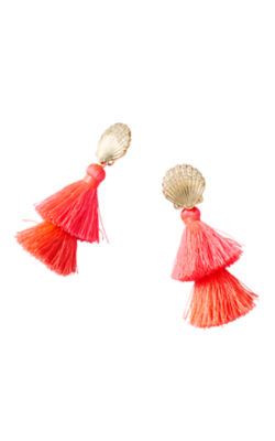 Shell Yeah Earrings, Cosmic Coral, large