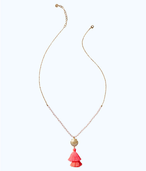 Shell Yeah Necklace, Cosmic Coral, large