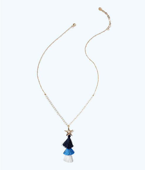 Starbright Necklace, Nauti Navy, large