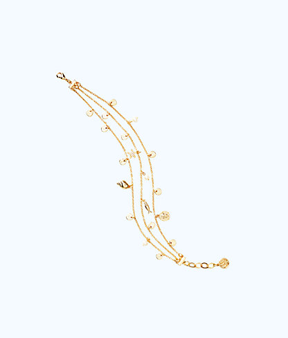 Sofishticated Anklet, Gold Metallic, large