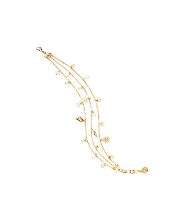 Sofishticated Anklet, Gold Metallic, large