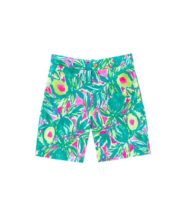 Boys Beaumont Shorts, Pink Sunset Guac And Roll, large