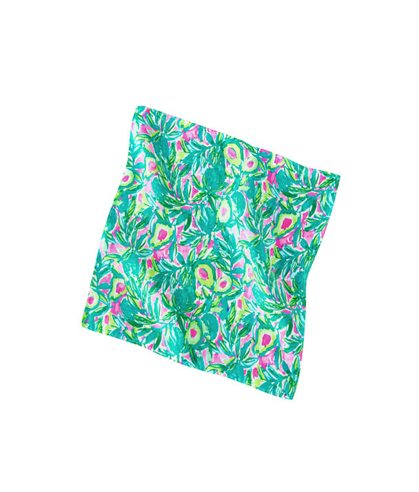 Mens Pocket Square, Pink Sunset Guac And Roll Mens, large