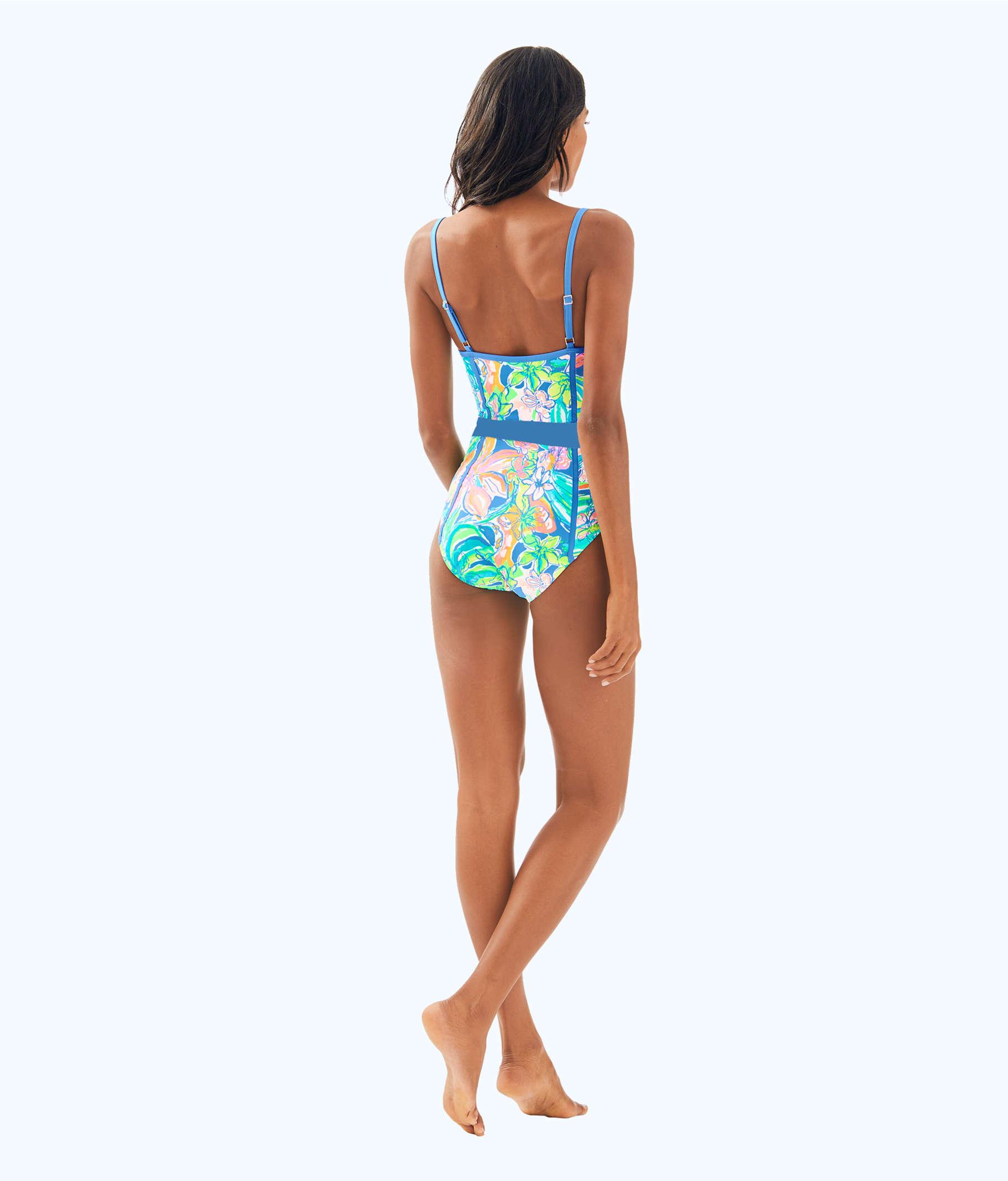 17922afa46 ... Palma One Piece Swimsuit, Bennet Blue Surf Gypsea Swim, large ...