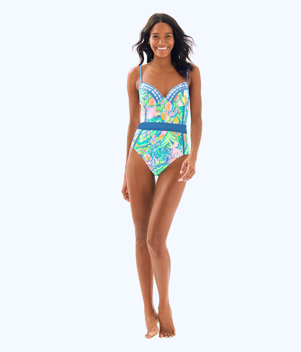 Palma One Piece Swimsuit, Bennet Blue Surf Gypsea Swim, large