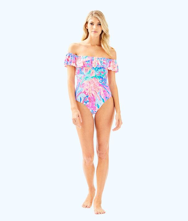Fiesta One Piece Swimsuit, Light Pascha Pink Aquadesiac, large
