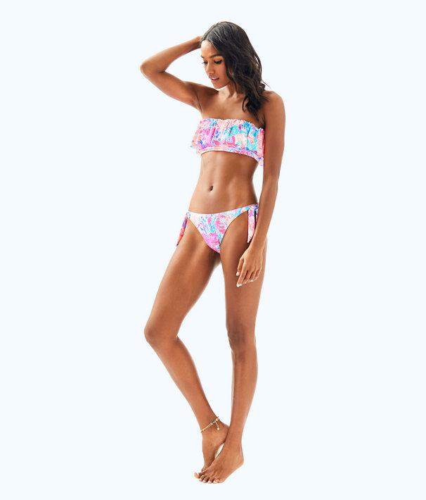 Salsa Ruffled Bandeau Bikini Top, Light Pascha Pink Aquadesiac, large