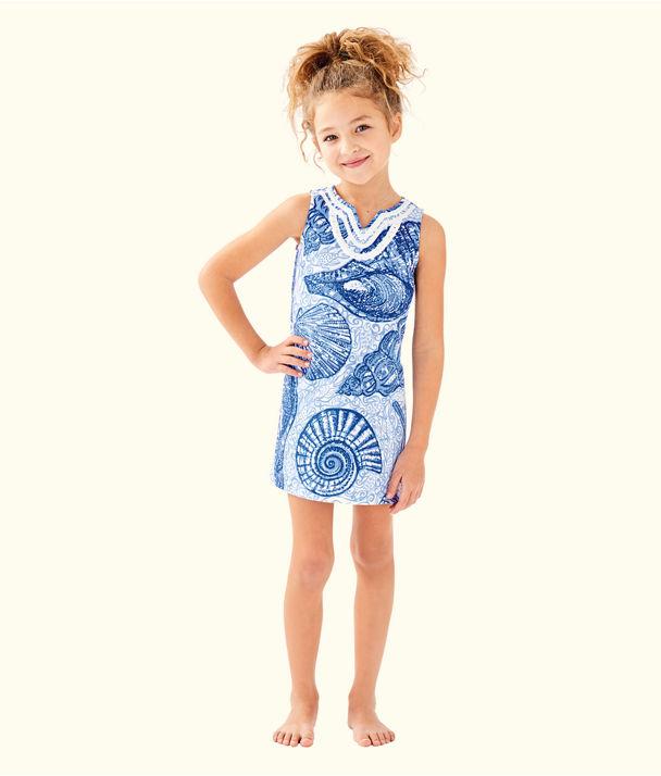 Girls Mini Harper Shift, Blue Peri Pop Up Stuffed Shells, large