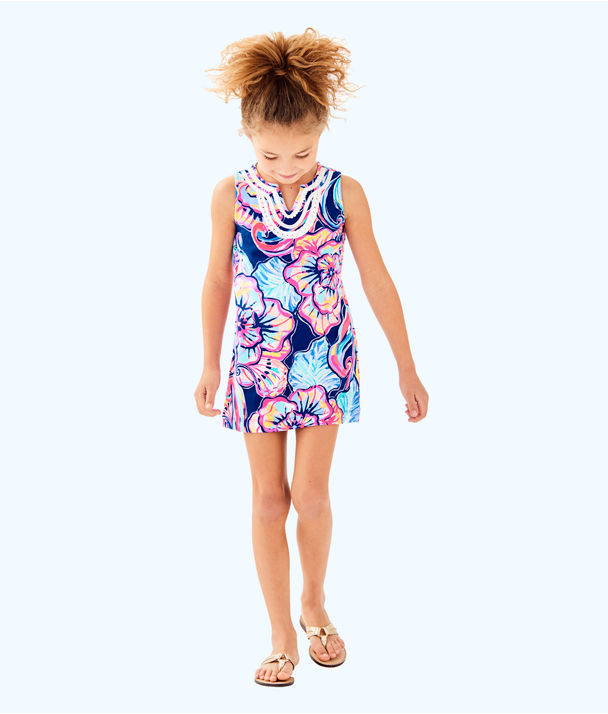 Girls Mini Harper Shift, Nauti Navy Boho Bateau, large