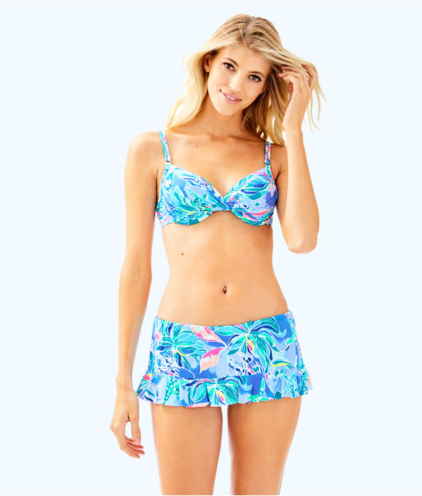 Cruise Skirted Bikini Bottom, Bennet Blue Celestial Seas, large