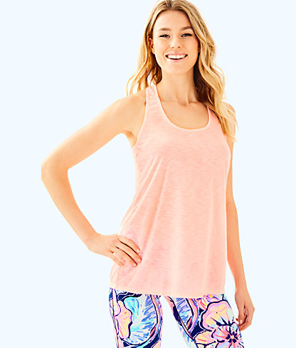 Luxletic Corinna Tank, Pink Conch, large