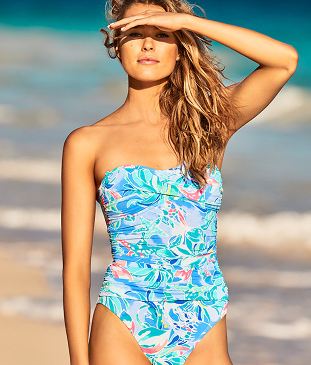 Flamenco One Piece Swimsuit, Bennet Blue Celestial Seas, large