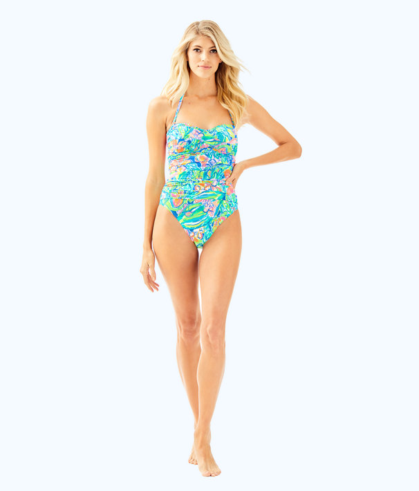 Flamenco One Piece Swimsuit, Bennet Blue Surf Gypsea Swim, large
