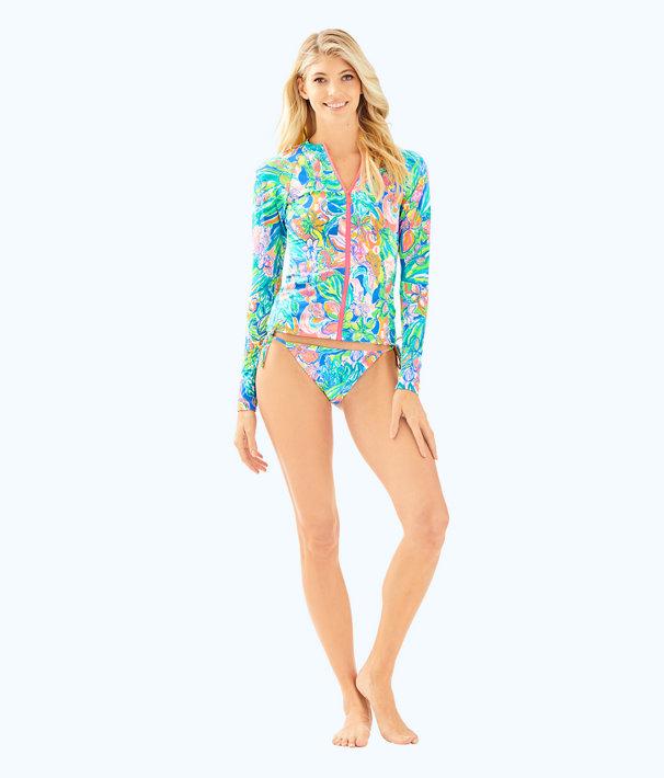 UPF 50+ Sunny Rashguard, Bennet Blue Surf Gypsea Swim, large