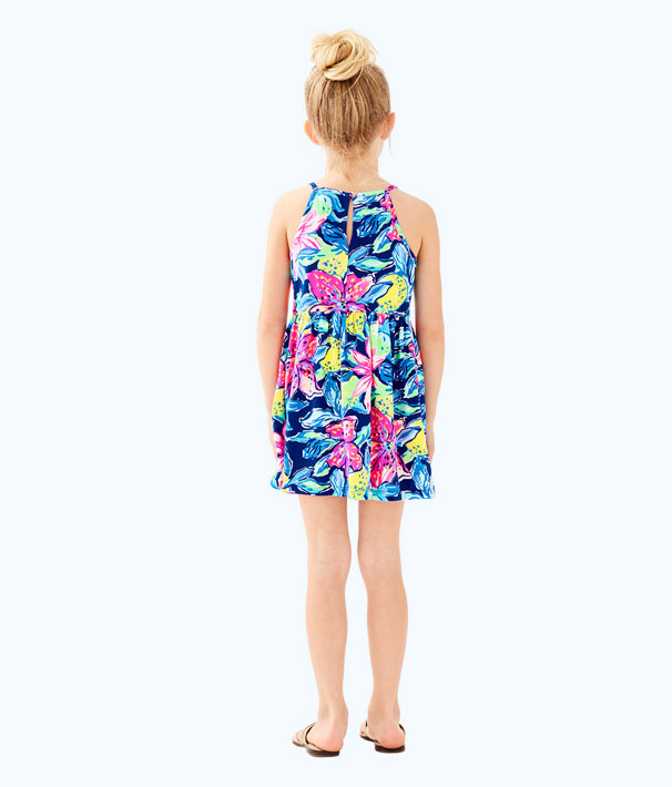 Girls Kinley Dress, Nauti Navy Capri Soleil, large