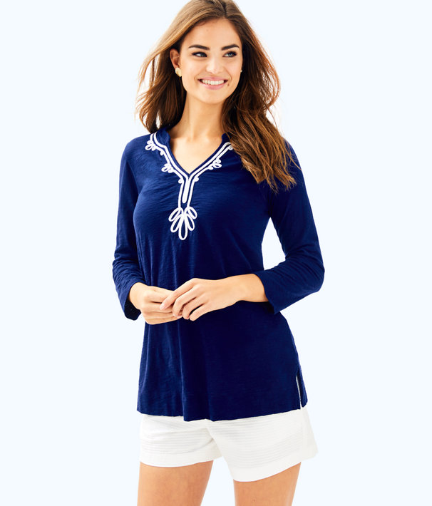 Kaia Knit Tunic, True Navy, large
