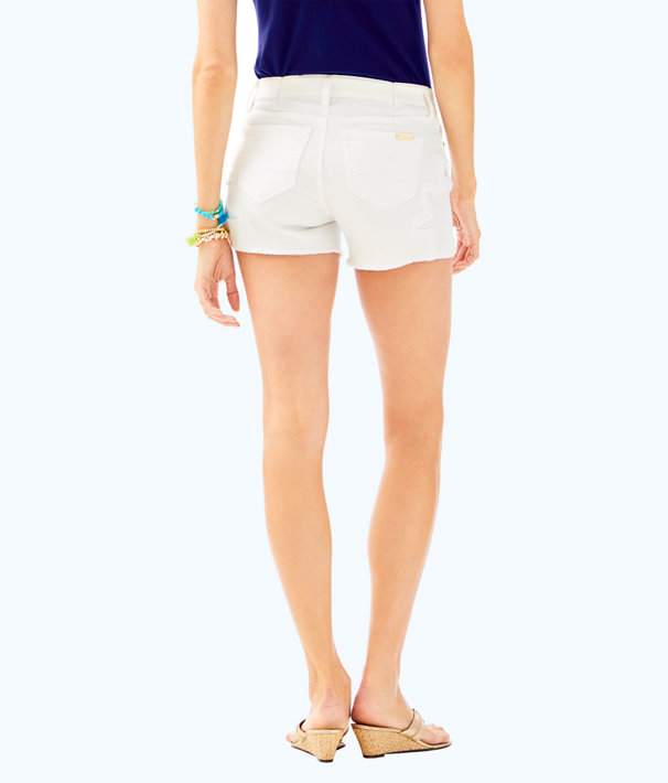 "4"" Izabela Denim Short, Resort White, large"