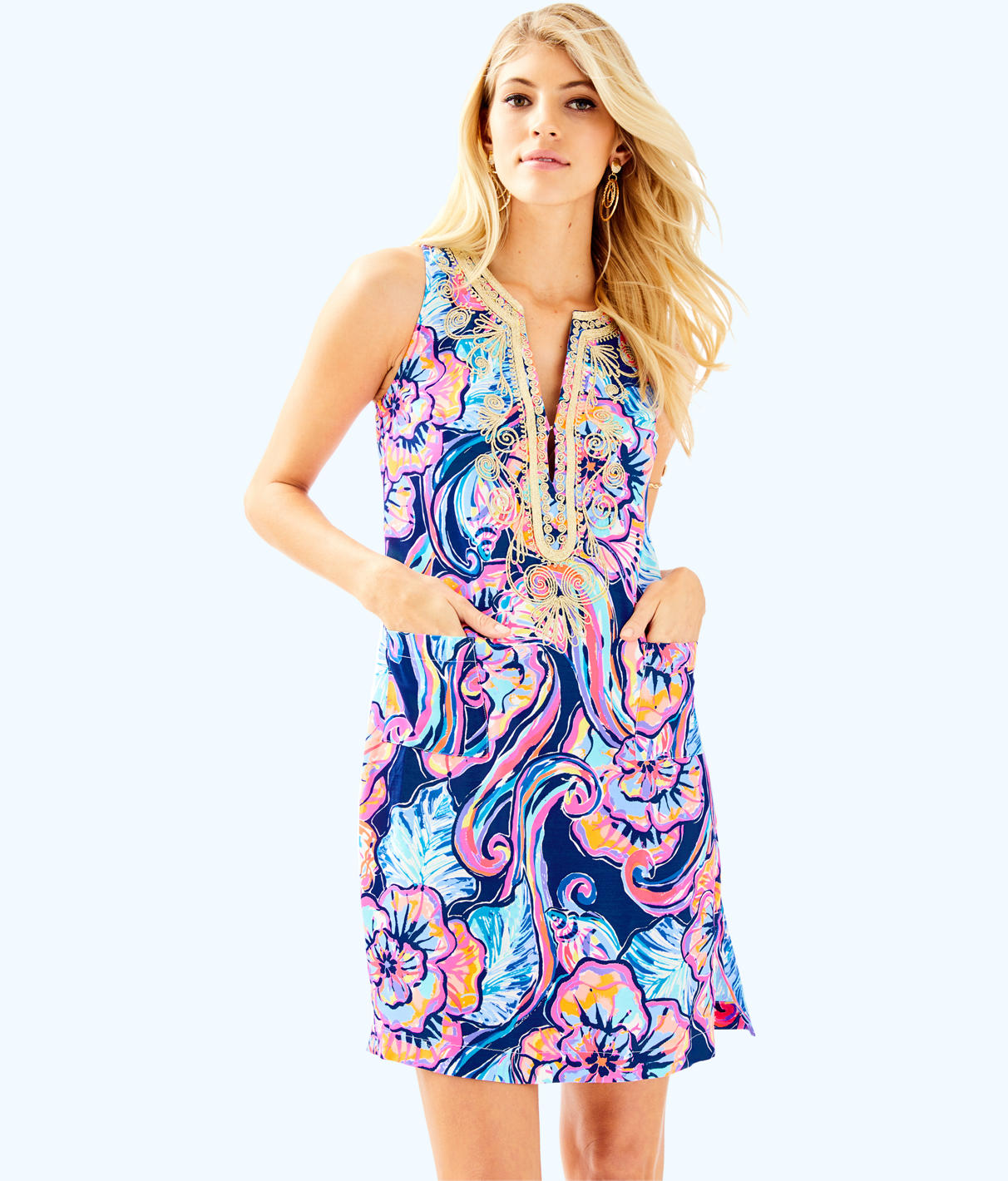 Lilly Pulitzer Lilly Pulitzer Womens Carlotta Stretch Shift Dress
