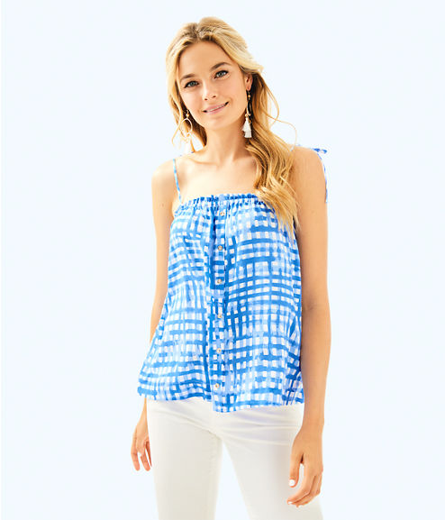 Silvana Top, Bennet Blue Feelin Beachy, large