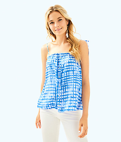 Silvana Top, Bennet Blue Feelin Beachy, large