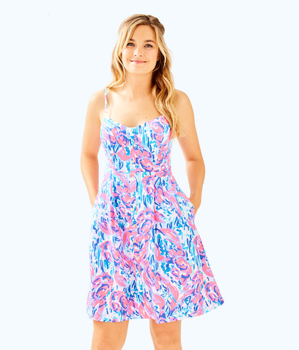 Easton Dress, Cosmic Coral Cracked Up, large