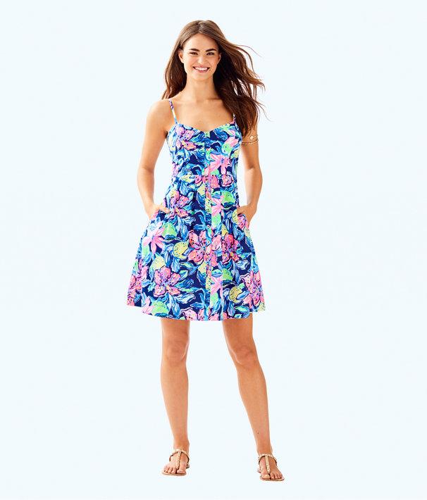 Easton Dress, Nauti Navy Capri Soleil, large
