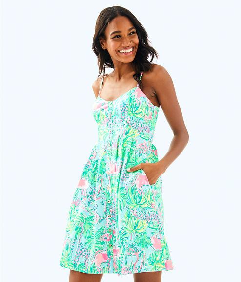 Easton Dress, Seasalt Blue On Parade, large