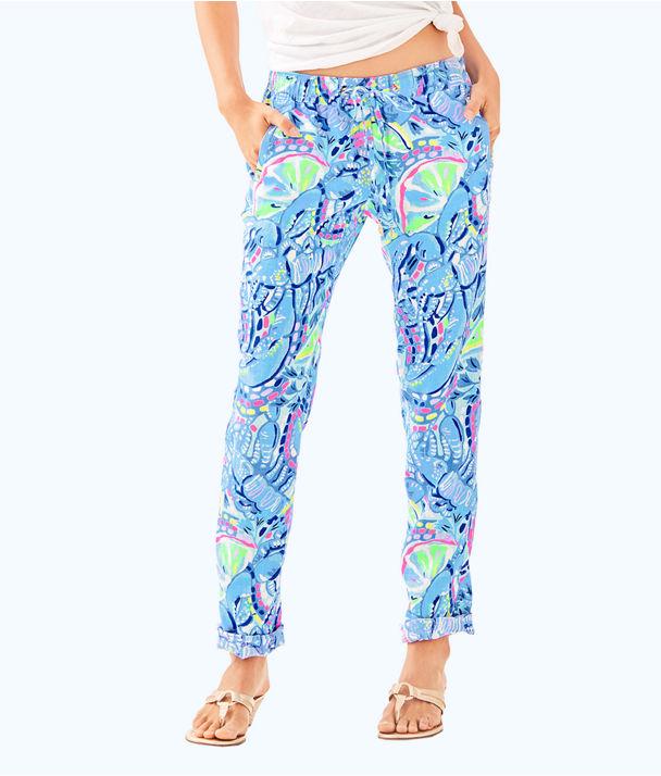 "31"" Aden Linen Pant, Blue Peri Pinch Pinch, large"