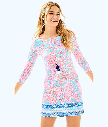UPF 50+ Sophie Dress, Seasalt Blue Shell We Dance Engineered Sophie, large