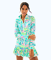 UPF 50+ Meryl Nylon Luxletic Hadlee Tennis Jacket, , large