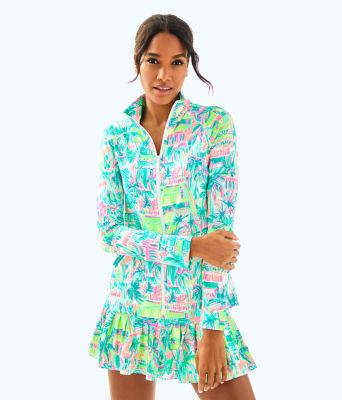 UPF 50+ Meryl Nylon Luxletic Hadlee Tennis Jacket, Multi Perfect Match, large 0