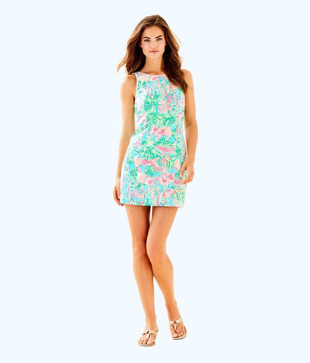 Mila Shift Dress, Seasalt Blue On Parade, large