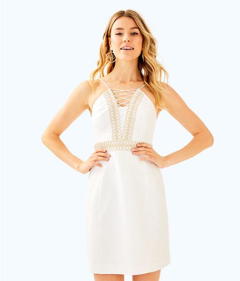 Trista Shift Dress, Resort White, large