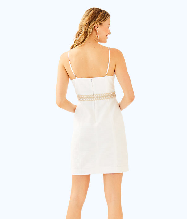 Trista Shift Dress, Resort White, large