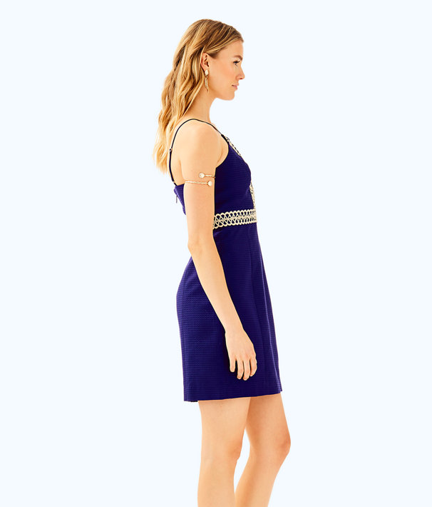 Trista Shift Dress, True Navy, large