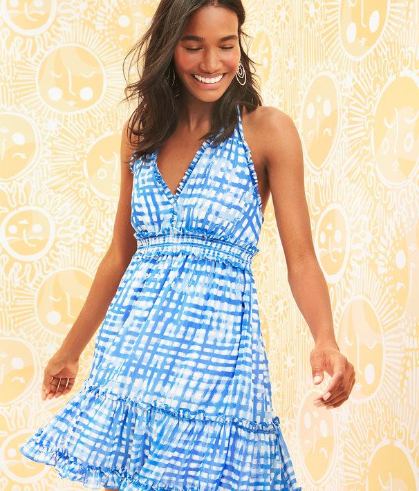 Cailee Halter Dress, Bennet Blue Feelin Beachy, large
