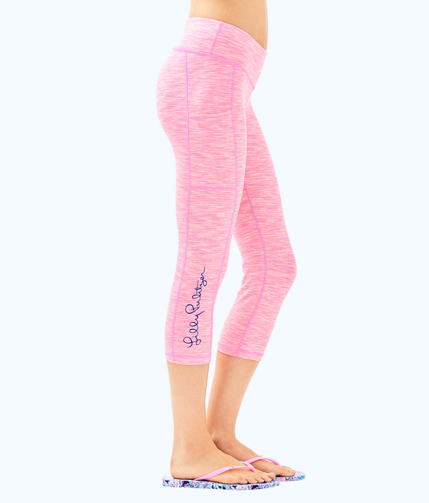 "UPF 50+ Luxletic 21"" Weekender Crop Pant with Pocket, Pascha Pink Space Dye, large"