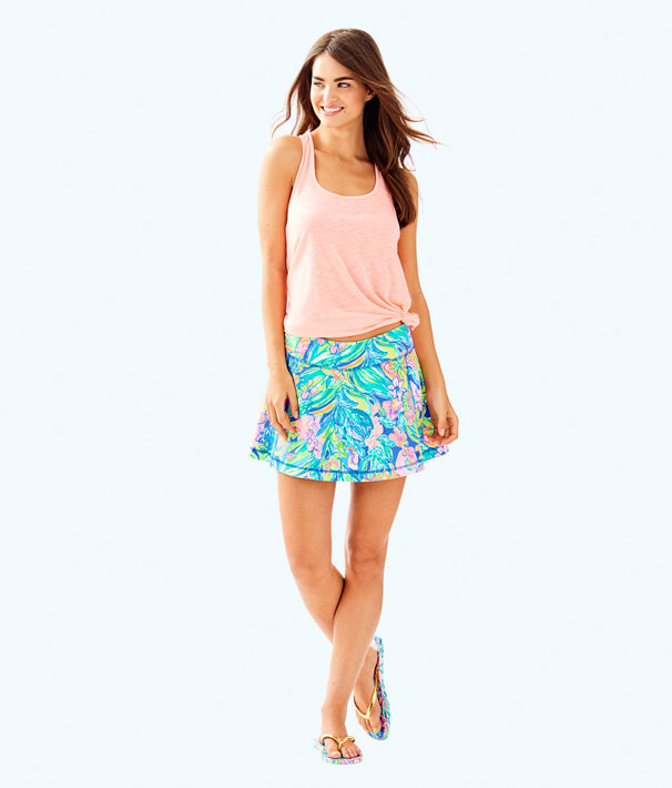 Luxletic Aila Skort, Bennet Blue Surf Gypsea Swim, large