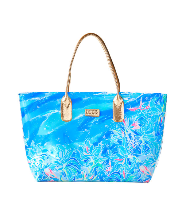Breezy Pool Tote, Bennet Blue Celestial Seas Engineered Tote Front, large