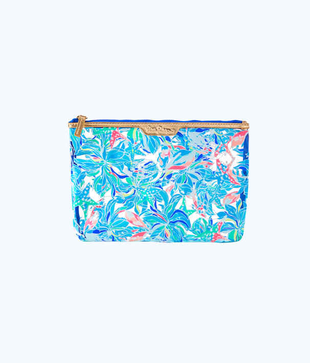 Breezy Pouch, Clear Celestial Seas Pvc Pouch Small, large