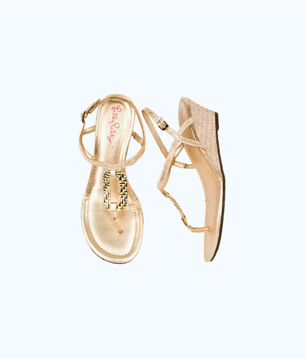 As Good As Gold Wedge, Gold Metallic, large