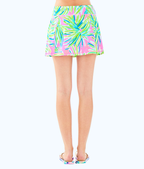 Luxletic Josephine Skort, Pink Sunset Royal Lime, large