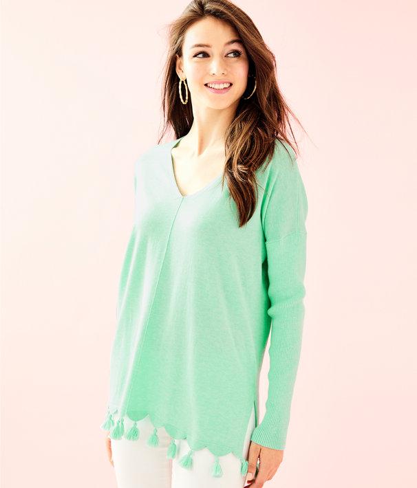 Martine Sweater, Heathered Aqua Sky, large