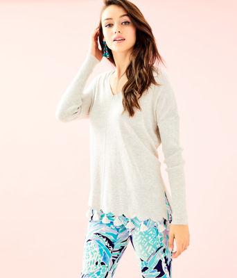 Martine Sweater, Heathered Sea Pebble Grey, large
