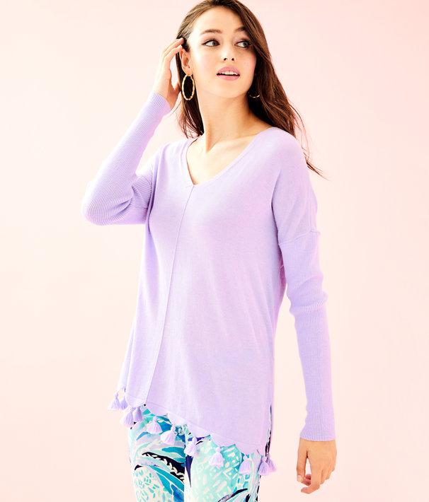 Martine Sweater, Light Lilac Verbena, large