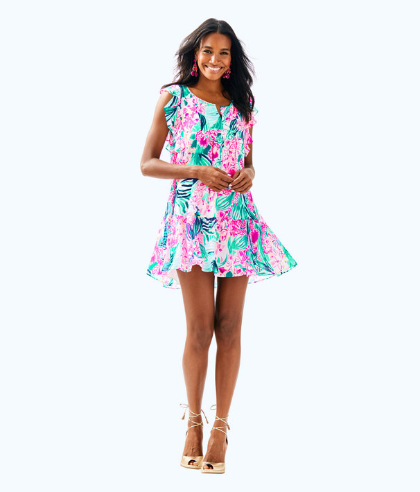 Nora Dress, Multi Via Flora, large