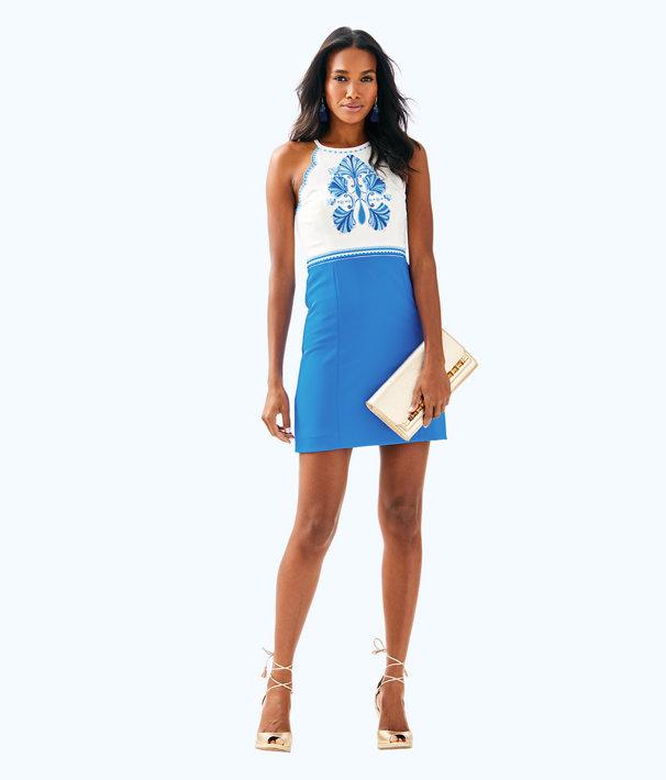 Adalie Stretch Shift Dress, Bennet Blue, large